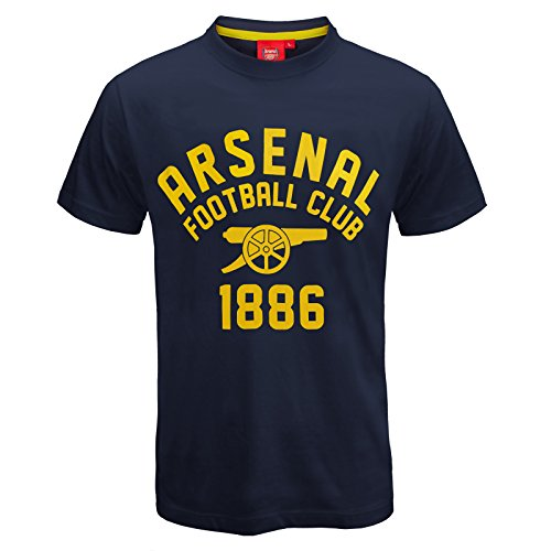 57bf123c9 Arsenal FC Official Football Gift Mens Graphic T-Shirt Navy Yellow Large -  Buy Online in UAE.