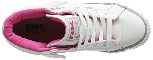 British Knights Damen Roco High-Top Weiß (White-Fuchsia 01)
