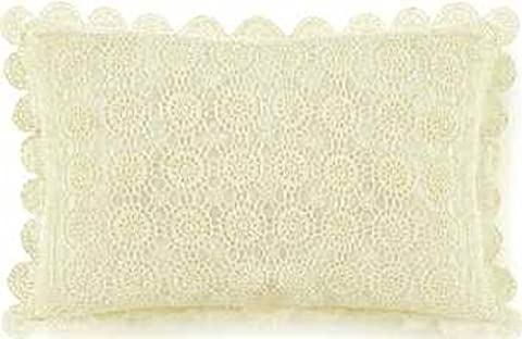 23x33 Oblong Ecru Pillow Sham, Crochet Lace - 1 Pc. by C&F