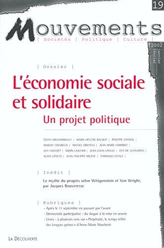 Mouvements, n° 19 : Economie sociale et solidaire, un projet politique