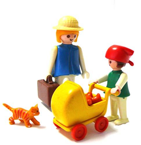 playmobil ® - Mutter mit Kind - Tochter und Puppenwagen und Teddy