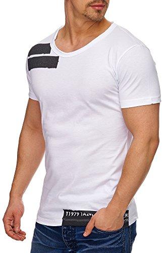Tazzio Herren Rundkragen T-Shirt 17103 Weiß