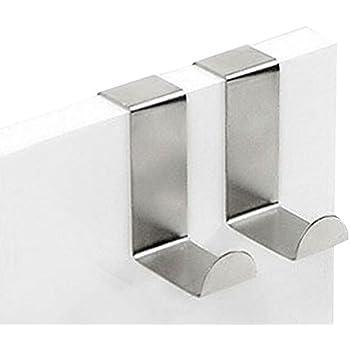 JUNGEN Stainless Steel Hooks Over Door Reusable Heavy Duty 2 Pack