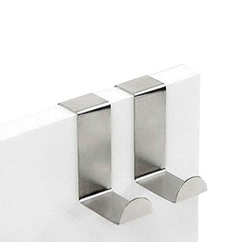 Namgiy 2x Kleidung Haken Coat Tür Handtuch Nickel Hat Wandhalterung Haken schwerlastaufhänger für Küche Badezimmer Schlafzimmer 6x 4x 2cm