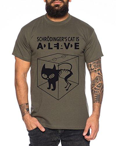 Schroedingers Katze Sheldon Nerd Herren T-Shirt Khaki