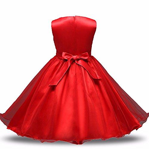 Sofyana Girls Party Wear Red Frock Birthday Frock Party Wear