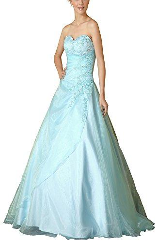 Romantic-Fashion Damen Ballkleid Abendkleid Brautkleid Lang Modell E480 A-Linie Satin Stickerei...