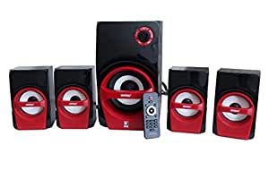Universal HT – 4107, 4.1 Multimedia Speakers Built in Digital FM and USB / SD card reader with Remote