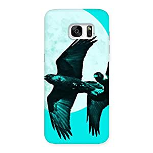 Gorgeous Raven Cyan Back Case Cover for Galaxy S7 Edge