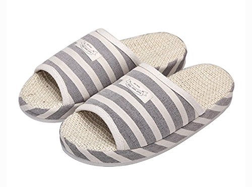 (Made By Flax) Skidproof Le Style Simple De Pantoufles(Gris 1)