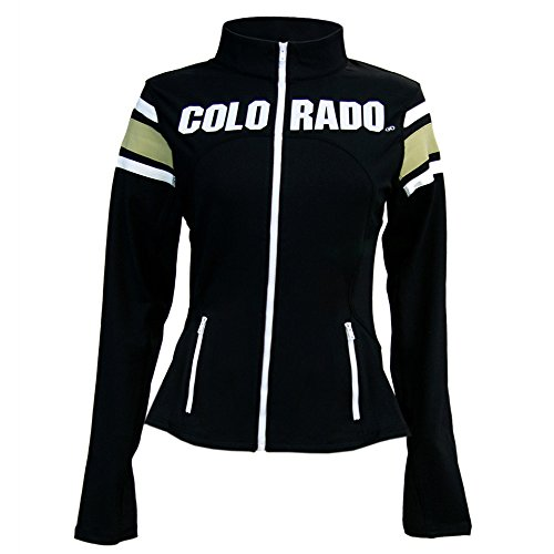 Twin Vision Activewear Damen Yoga-Jacke Colorado Buffaloes NCAA, Damen, schwarz, X-Large -