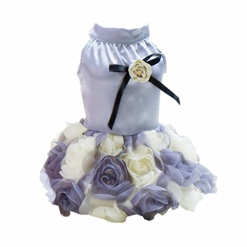 MagiDeal Hunde Katze Abendkleid Kostüm Kleid für Partei Festival - S