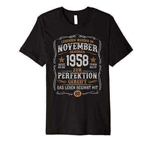 Geschenk Zum 60. Geburtstag Jahrgang 1958 November T-shirt Preisvergleich