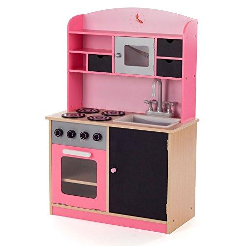 baby-vivo-cocina-de-juguete-de-madera-rosa-microondas-nios-infantil-pizarra-horno-y-estufa-lavabo