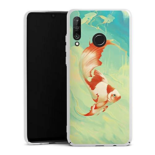 DeinDesign Hülle kompatibel mit Huawei P30 Lite Handyhülle Case Goldfisch Wasser Water -