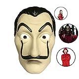 Casa Di Carta Salvador Dalì, Maschera Di PVC Costume Maschera Di Halloween Dali, Per Halloween...