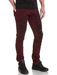 BLZ jeans - Jean bordeau froissé et nervuré