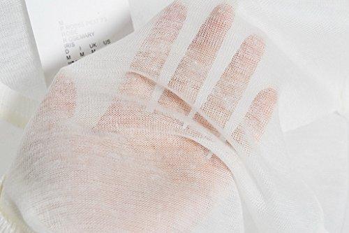 Bigood Veste Courte Femme Cardigan Eté Top pour Gilet Protection Climatisation Soleil Plage Blanc