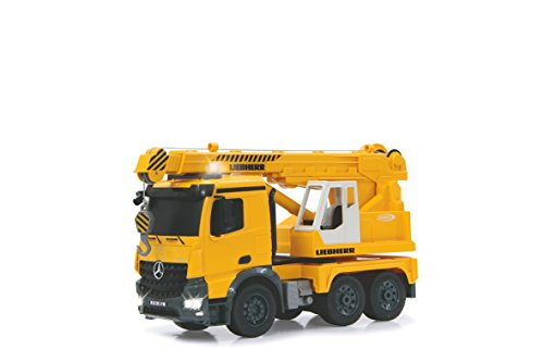 Jamara 405034 - Schwerlastkran Mercedes Liebherr, Fahrzeug, 1:20, 2.4 GHz, gelb