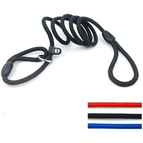 Rifornimenti dell'animale domestico cane guinzaglio cane trazione corda corda rotonda del collo cinturino tirare catena controllo catena corda P P , black , s