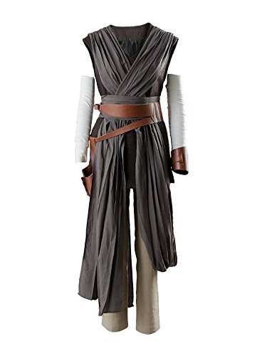 Rey Star Wars Kostüm Weste - Star Wars 8 The Last Jedi Rey Outfit Ver.2 Cosplay Kostüm Damen L