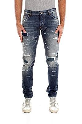 G6IALDG8R67S9001 Dolce&Gabbana Jeans Men Cotton Blue