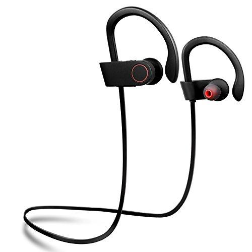 Bluetooth Kopfhörer kabellos, TOPLUS sport Kopfhörer Bluetooth 4.1 Stereo In Ear Kopfhörer schweißfest inklusive Mikrofon für iPhone Samsung andere Smartphone oder Bluetooth-Gerät (Schwarz)