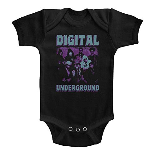 326f4165e American Classics Digital Underground 1987 Hip Hop Group Funky Purple Black Infant  Baby Snapsuit