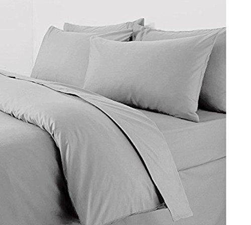 RAYYAN LINEN Par de fundas de almohada de 200 hilos, 50 x 75 cm, 100% algodón egipcio, color gris