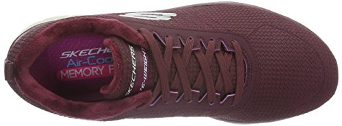 Skechers Flex Appeal 2.0 Shadow Play, Baskets Basses Femme Rouge (BURG)
