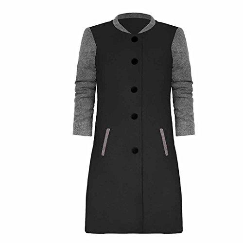 Winwintom Womens Casual manches longues Cardigan veste Lady Coat Jumper Tricots Noir