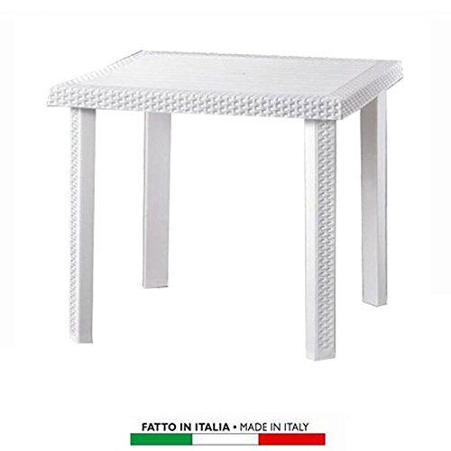 Tavolo In Rattan Bianco.Arredamento Da Giardino Tavolo Tavolino King In Dura Resina Finto