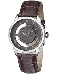 Stuhrling Original 650.03 - Reloj para hombres, correa de cuero color marrón