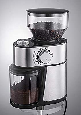 Andronicas Coffee Bean Burr Grinder Machine - Electric Burr Grinder Coffee Grinder Machine with Free Arabica Coffee - Coffee Mills -200w Stainless Steel 1 Year Guarantee Period Espresso Grinder from ANDRONICAS world of coffee