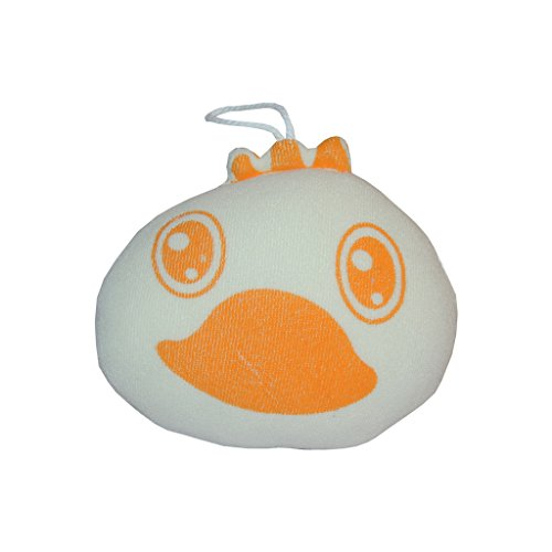 Baby Bucket high quality super soft infant bath sponge Orange color