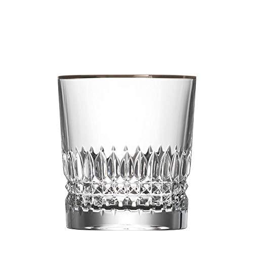 ARNSTADT KRISTALL Whiskyglas Empire (9 cm) Kristallglas mundgeblasen · handgeschliffen · Handmade in Germany · inkl. echtem Platinrand