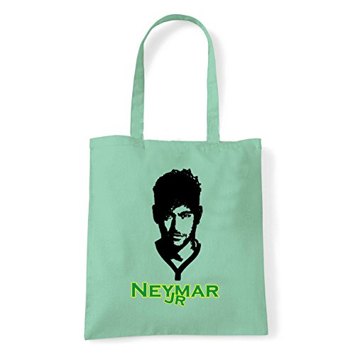 Art T-shirt, Borsa Shoulder Neymar Jr, Shopper, Mare Menta