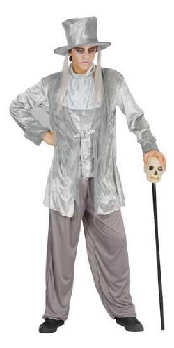 Mens Fancy Dress Halloween Night Party Outfit Ghostly Gentleman Male Costume by (Ghostly Kostüme Gent)