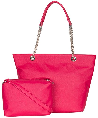 ADISA AD2012 hot pink women handbag with sling bag combo