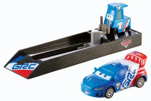 Mattel Y9064 Disney Pixar Cars Floyd Mulvihill Pit Crew Launchers - Raoul CaRoule - Boxencrew Werfer Die-Cast Rennfahrzeug