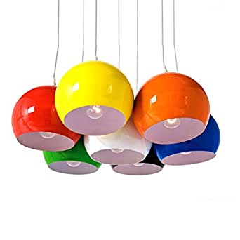xtradefactory lampe suspension 7 boules calotta. Black Bedroom Furniture Sets. Home Design Ideas