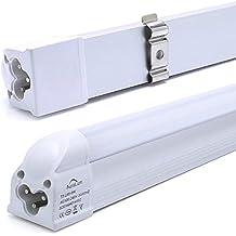 2er Auralum 60CM LED T5 Tubo Ultra Brillante 8W Sustituye a 75W 810LM 2835 * 48LED Lámpara Fluorescente Iluminación de ahorro de energía para Oficina, pasillo Blanco Natural(4000K-4500K)