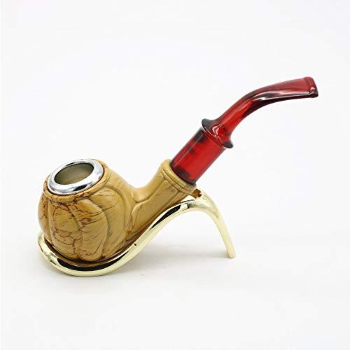 Fumare La Pipa Di Tabacco, Fumare I Tubi Di Tabacco Di Legno Unici, Il Regalo Migliore Per Gli Uomini