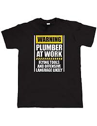 Vectorbomb, Avertissement Plombier Au Travail T Shirt (Du S au 5XL)