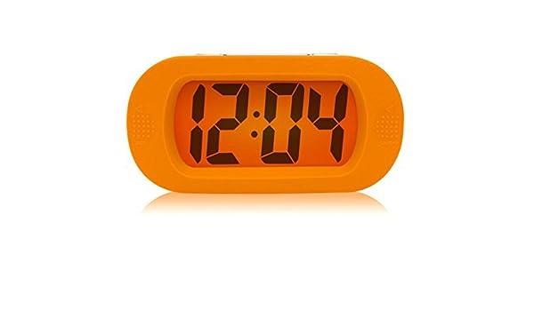 Orange King.MI Color/é Light Digital Radio-R/éveil avec Snooze silicagel Prot/ège Antichoc Automne Cr/éatif R/éveil