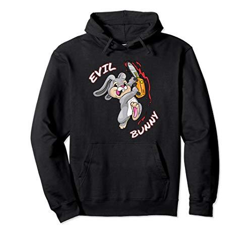Evil Bunny Shirt Ostern Böses Hässchen Halloween Party  Pullover Hoodie