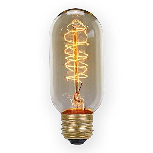 PureLumeTM Edison T15 Radial Vintage Lampe (40W, E27, 220V) Ideal für Nostalgie und Antik Beleuchtung