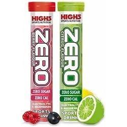 High5 Zero Electrolitos Bebida Para Deportistas Cámara de 20 fichas - compra 1 Get Uno Gratis - 1 x Citrus + 1 Arándano Sin