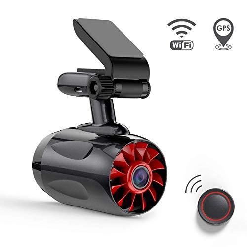 """VANTRUE T1 24/7 1296P WiFi GPS Dashcam 1080P Full HD Auto Kamera, HDR Nachtsicht Superkondensator Car Camera, Bluetooth Fernbedienung ADAS, 170° 2\"""" Auto Cam, G Sensor Parkmodus, Unterstützt 256GB"""