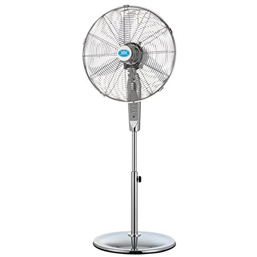 "41A0rzWsTYL. SS500  - Prem-I-Air 16"" (40cm) Chrome Pedestal Fan With Remote Control"